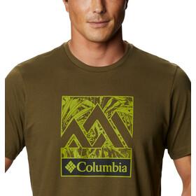 Columbia Rapid Ridge Graphic Tee Men, new olive triple peak